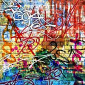 A Messy Graffiti Wall Background