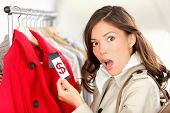 Shopping Woman Shocked Over Price