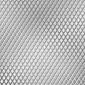 A Metal Background with Diamond Tread Pattern