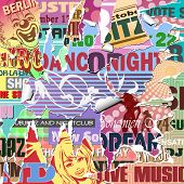 Vector Grunge Background with Old Torn Posters
