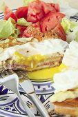 Croque Madame Vertical With Salad