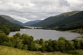 Scottish Highland Lochs On An Overcast Summer Afternoon poster