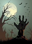 image of ghoul  - halloween background - JPG