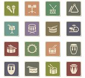 Rhythm Instruments Web Icons For User Interface Design poster