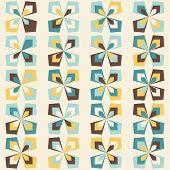 Midcentury Geometric Retro Pattern, Vintage Colors poster