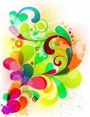Ácido gráfico para seu design colorido