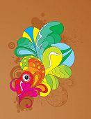 colorful attraktive abstrakt entwerfen. CMYK-Farbumfangs verwendet. Vektor-Illustration.