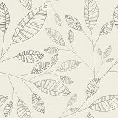 seamless simple shape leaves wallpaper