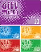 Color Gift Cards (vector format)