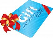 Gift Card with red bow  (vector enable in portfolio)