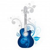 Dark blue guitar