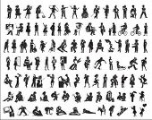 vector silhouettes of people - big collection