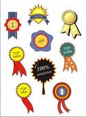 collection of vector ribbons and awards