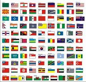 alphabetically sorted flags of the world, Part 2 (L-Z) - vector collection