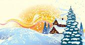 Winter celebratory landscape
