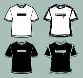 a set of 4 t-shirt symbols