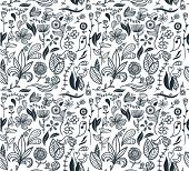 Seamless floral Pattern. Vektor-Illustration.