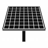 Solar Brand Panel Icon. Simple Illustration Of Solar Brand Panel Vector Icon For Web Design Isolated poster