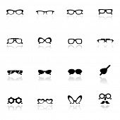 Icons set  Eye glasses