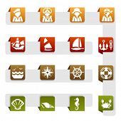 Icons set Nautical