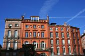 Typical building in Toulouse, France