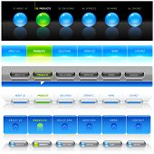 Clean vector, easy to edit web navigation templates 8