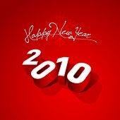 Vector greeting card 2010. Editable. No mesh.