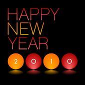Vector greeting card 2010. Editable. No mesh