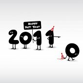 Funny New Year's Eve greeting card
