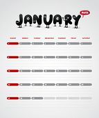 Funny year 2012 vector calendar January