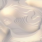 Abstract Topographic Background. White Paper Cut Art Design For Website Template. Topography Map Con poster