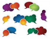 collection of different conversation speech bubbles