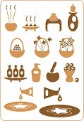 A collection of aromatherapy design elements. (Set No. 2)