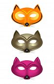 Cat masks ready for party, just print, cut and add a piece of string!