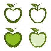 Green apple fruit designs.