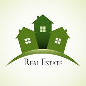 stock photo of real  - Green real estate concept design - JPG