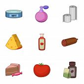 Refreshment Icons Set. Cartoon Set Of 9 Refreshment Vector Icons For Web Isolated On White Backgroun poster