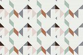 Geo Seamless Pattern, Geometrical Ornament, Seamless Fabric Print, Vintage Print, Geometric Backgrou poster