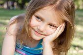 happy thinking child