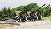 Three Soviet-era Artillery Pieces