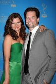 LOS ANGELES - JUN 17:  Heather Tom, Michael Muhney arriving at the 38th Annual Daytime Creative Arts & Entertainment Emmy Awards at Westin Bonaventure Hotel on June 17, 2011 in Los Angeles, CA