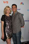 LOS ANGELES - AUG 1: Yvonne Strahovski, Zachary Levi arriving at the NBC TCA Summer 2011 Party at SL