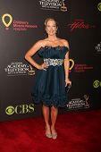 LAS VEGAS - JUN 19:  Jennifer Gareis arriving at the  38th Daytime Emmy Awards at Hilton Hotel & Cas