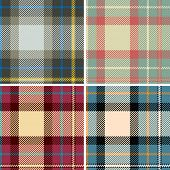 stock photo of kilts  - Textured tartan plaid - JPG