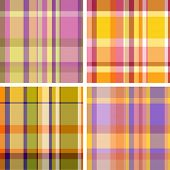 Summer-and-autumn collection of plaid. Seamless pattern