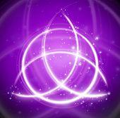 magic background celtic knot shape sign - vector