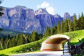 Picturesque rural mountain landscape.