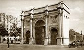 Sepia Shot Of Marble Arch In About 1920