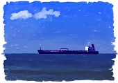 painted oil tanker
