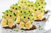 Funny cheese morsels